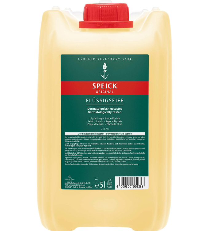 Speick Natural Liquid Soap Canister (5l)